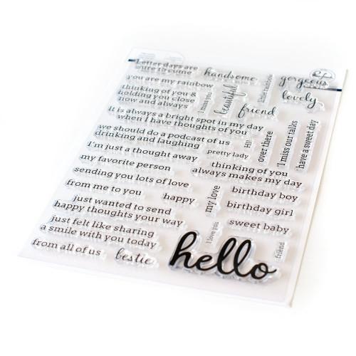 Pinkfresh Studio Simply Sentiments Hello Stamp Set