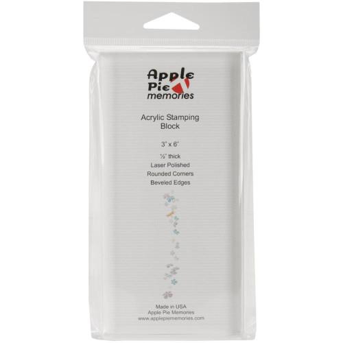 "Apple Pie Memories acrylic block 3 x 6"""