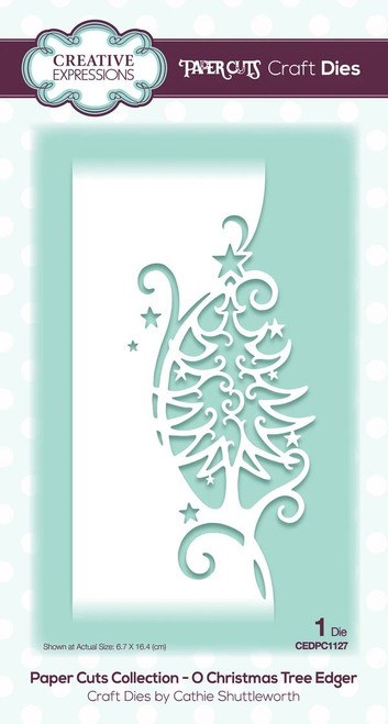 Creative Expressions Paper Cuts Edger die O Christmas Tree