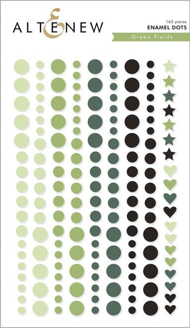 Altenew enamel dots Green Fields