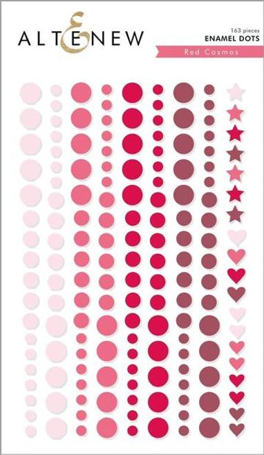 Altenew Red Cosmos Enamel Dots