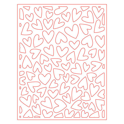 Honey Bee Honey Cuts Fluttering Hearts Cover Plate