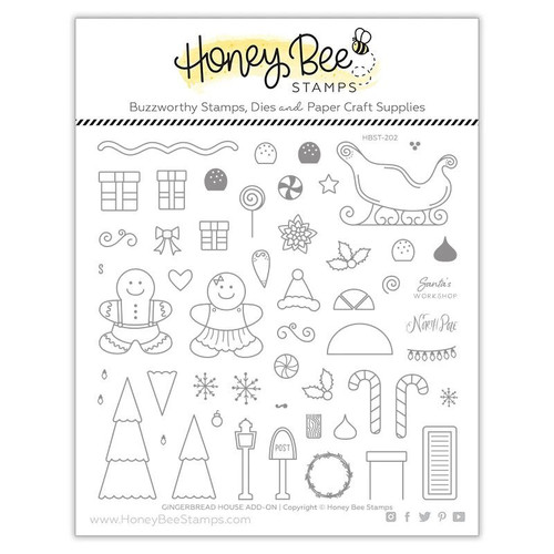 Honey Bee Stamps Gingerbread House Add-on