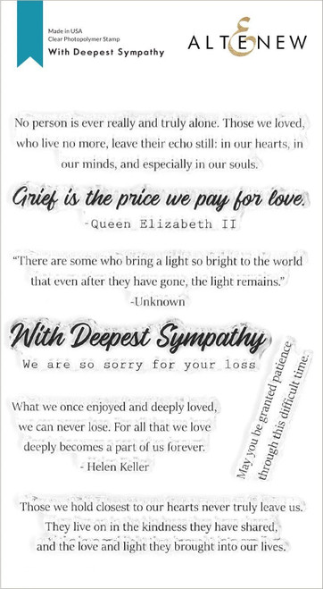 With Deepest Sympathy Stamp Set
