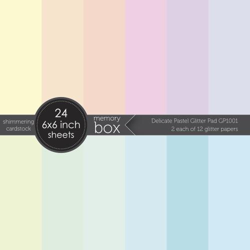 Memory Box Delicate Pastel Glitter Pad
