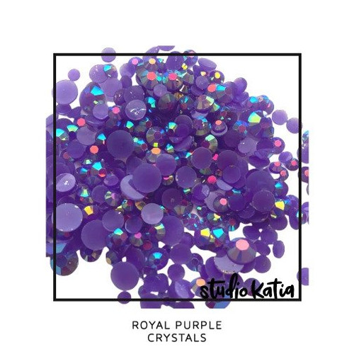 Studio Katia Crystal Embellishments Royal Purple
