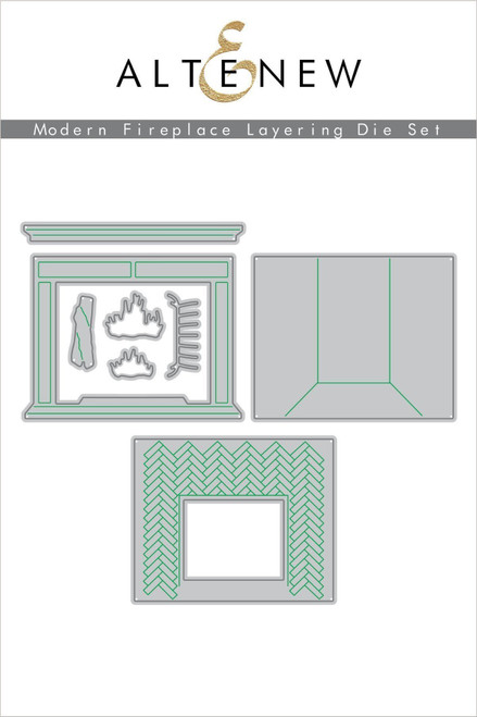 Altenew Modern Fireplace Layering Die Set