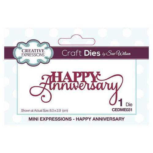 Creative Expressions Mini Expressions Happy Anniversary