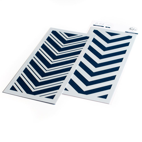 Pinkfresh Studio Double Chevron Layering Stencil Set