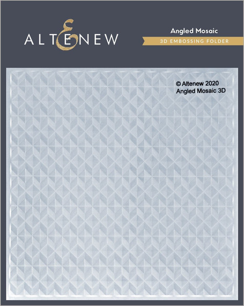 Altenew Angled Mosaic 3D Embossing Folder