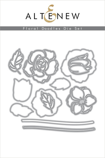Altenew Floral Doodles Die Set