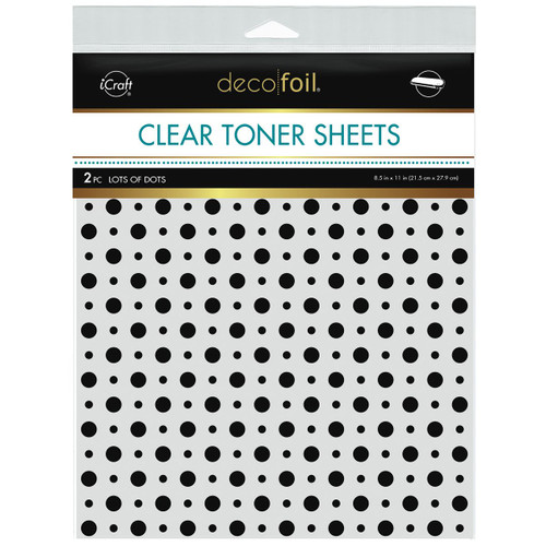 Thermoweb Clear Toner Sheets Lots of Dots