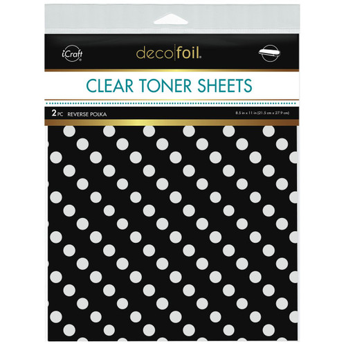 Thermoweb Clear Toner Sheets Reverse Polka