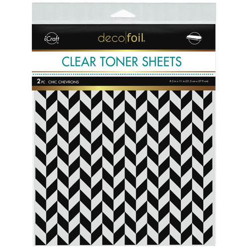 Thermoweb Clear Toner Sheets Chic Chevrons