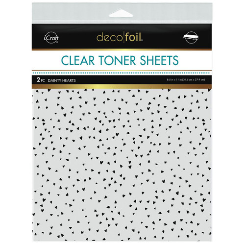 Thermoweb Clear Toner Sheets Dainty Hearts