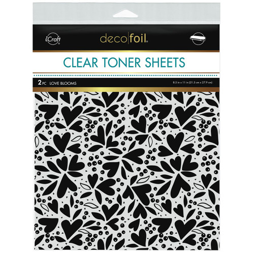 Thermoweb Clear Toner Sheets Love Blooms