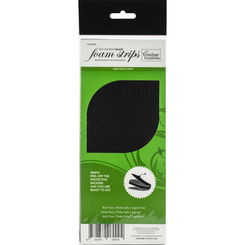 Couture Creations 3D Adhesive Foam Strips Black