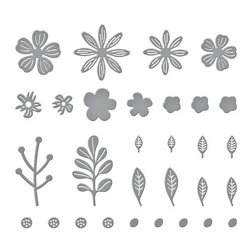 Spellbinders Mini Blooms and Sprigs die set
