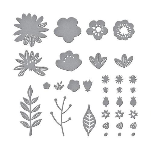 Spellbinders Simply Perfect Layered Blooms Die Set
