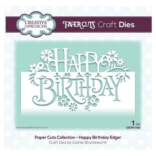 Creative Expressions happy Birthday Edger