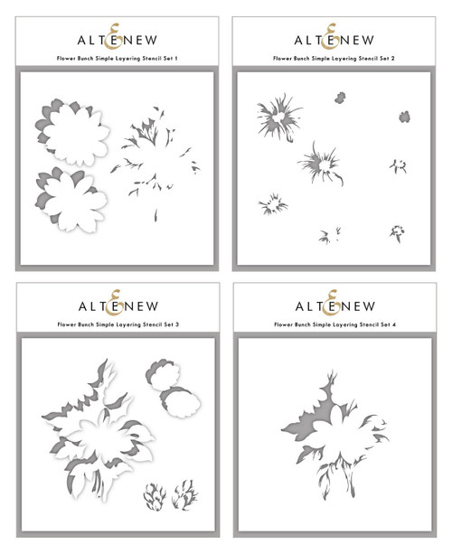 Altenew Flower Bunch Simple Layering Stencil Set