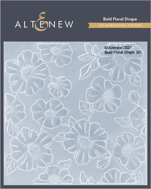 Altenew 3D Embossing Folder Bold Floral Drape