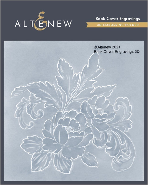 Altenew 3D Embossing Folder Book Cover Engravings