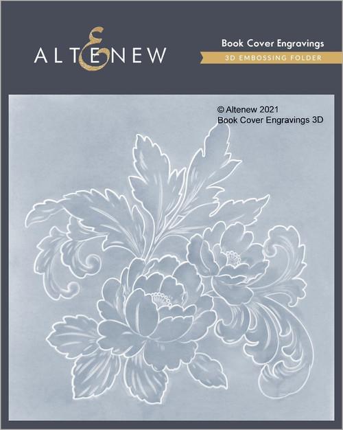 Altenew 3D Embossing Folder Book Cover Engravings