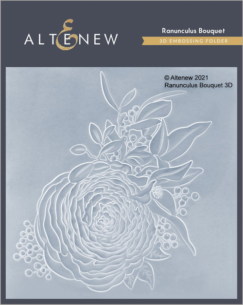 Altenew 3D Embossing Folder Ranunculus Bouquet