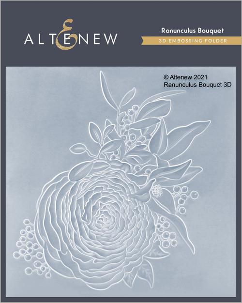 Altenew 3D Embossing Folder Ranunculus Bouquet