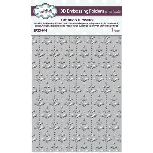 Creative Expressions 3D Embossing Folder Art Deco Flowers