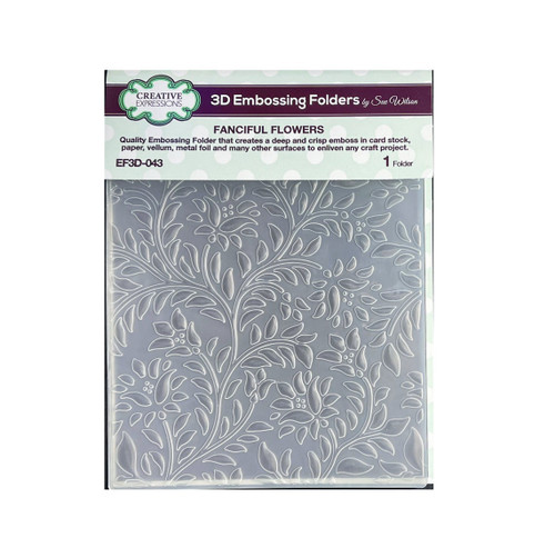 Creative Expressions 3D Embossing Folder Fanciful Flowers