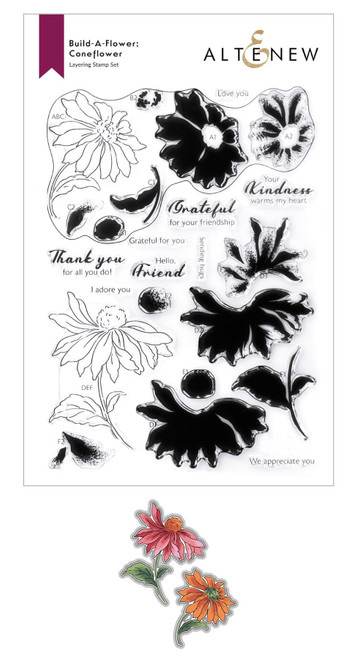 Altenew Build a Flower Coneflower stamp & die set