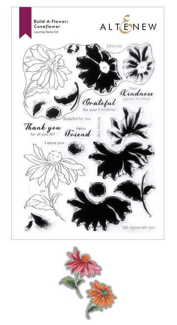 Altenew Build a Flower Coneflower stamp & die set