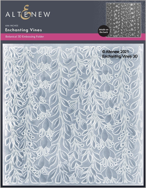 Altenew 3D Embossing Folder Enchanting Vines