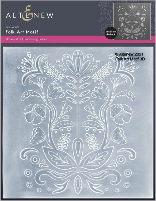 Altenew 3D Embossing Folder Folk Art Motif