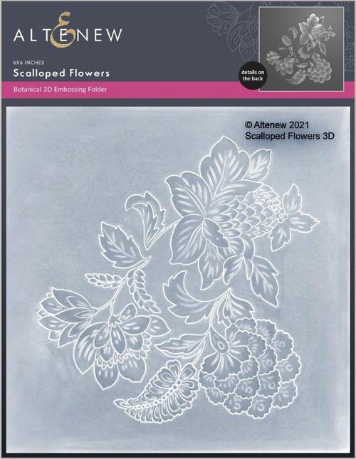 Altenew 3D Embossing Folder Scalloped Flowers