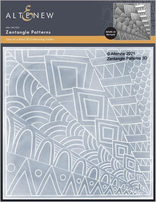 Altenew 3D Embossing Folder Zentangle Patterns