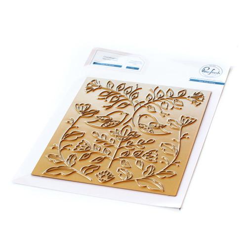 Pinkfresh Studio Folk Art Birds Hot Foil Plate