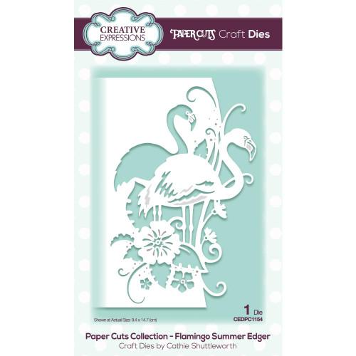 Creative Expressions Die Paper Cuts Flamingo Summer Edger