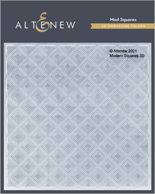 Altenew 3D Embossing Folder Mod Squares