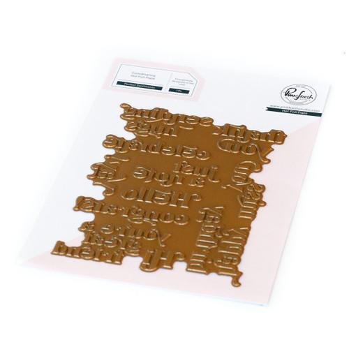 Pinkfresh Studio Perfect Sentiments Hot Foil Plate