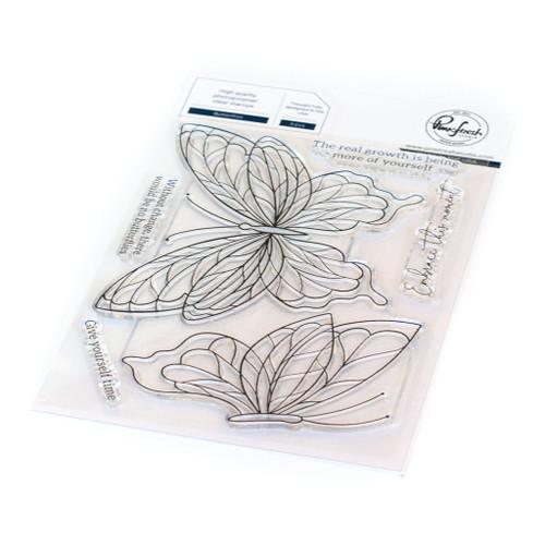 Pinkfresh Studio Butterflies Stamp