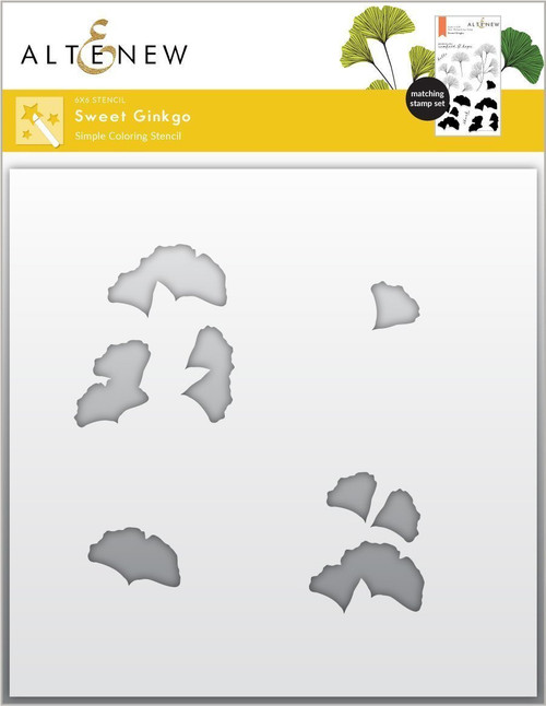 Altenew Sweet Ginko Simple Coloring Stencil