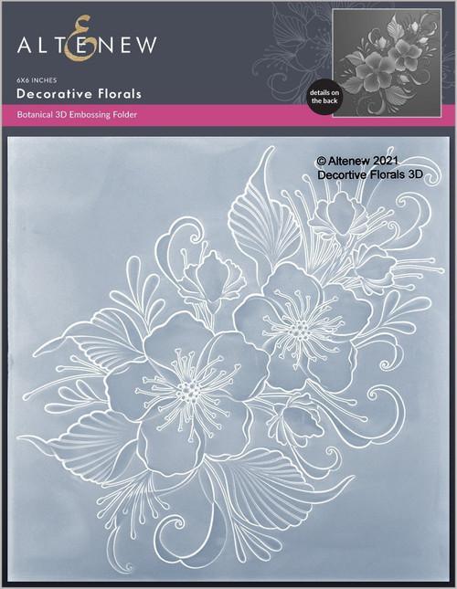 Altenew Decorative Florals 3D Embossing Folder