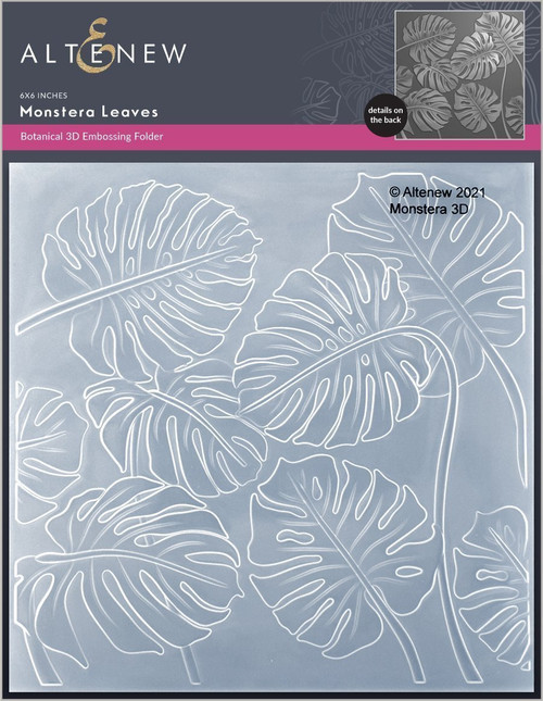 Altenew 3D Embossing Folder Monstera Leaves