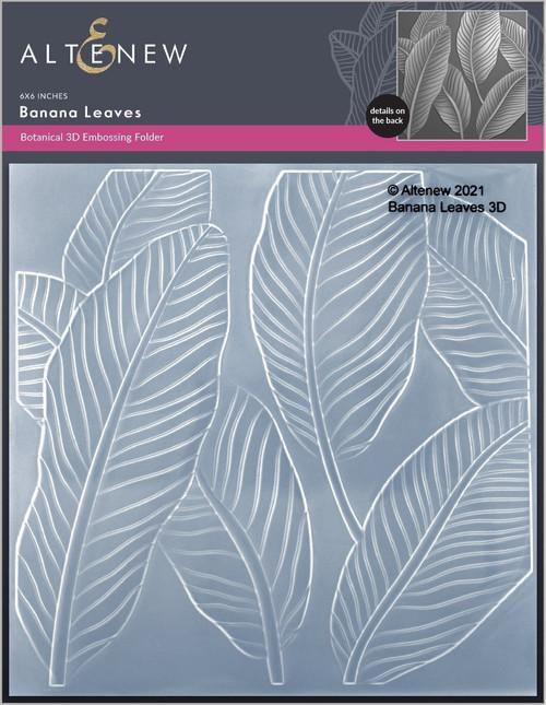 Altenew 3D Embossing Folder Banana Leaves