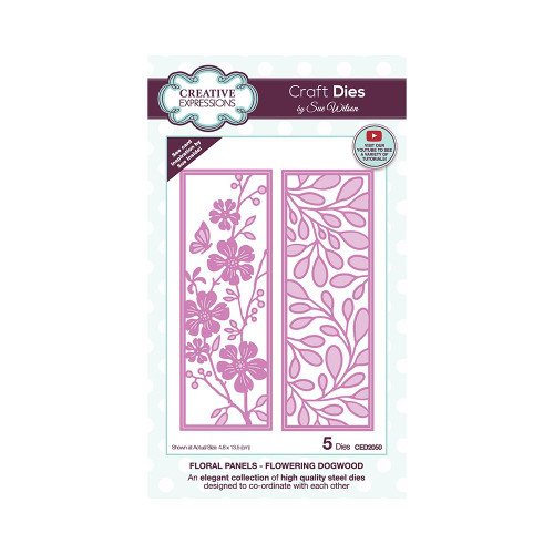Creative Expressions Floral Panel Dies Flowering Dogwood