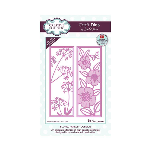 Creative Expressions Floral Panel Dies Cosmos