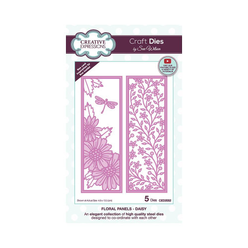 Creative Expressions Floral Panel Dies Daisy